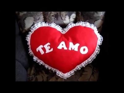 Almohada corazon San Valentin