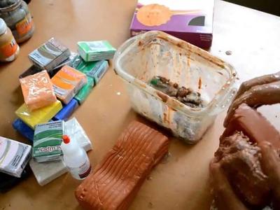Como recuperar Sculpey seco (how recover dry Sculpey)