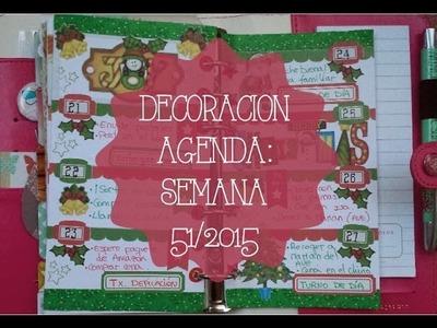 Decoración agenda Westers Pages: semana 51.2015
