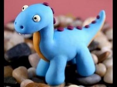 DINOSAURIO tutorial como hacer Dinosaurio de arcilla