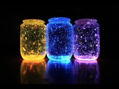 DIY Como Hacer Frascos Que Brillan Fàcil,luces de