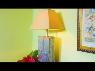 LAMPARA DE ACERO: RECICLAJE