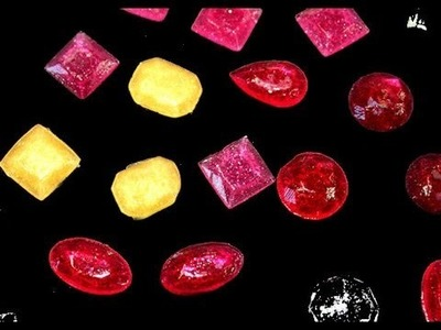 Piedras preciosas de caramelo