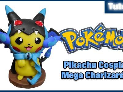 Pokemon ✰ Pikachu Cosplay Mega Charizard X Polymer Clay Tutorial ✰ Porcelana Fría ★ Plastilina