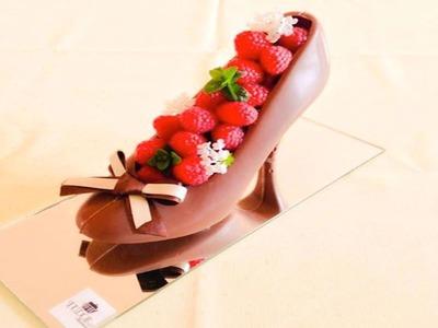Repostería: Zapatilla de chocolate. Cómo hacer figuras de chocolate