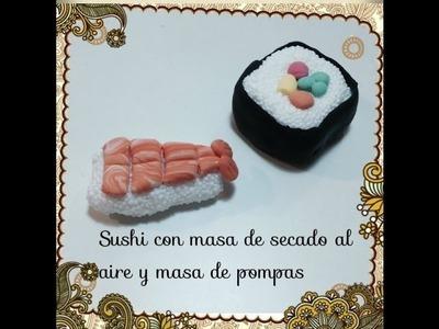 Tutorial como hacer Sushi con i clay , fimo , masa modelable