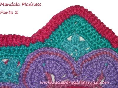 Tutorial Crochet Manta Mandala Madness paso a paso en español