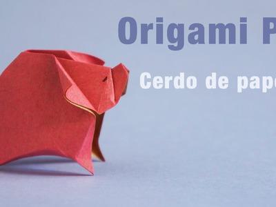 Origami Pig :: Cerdo en origami