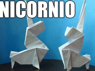 Como hacer un UNICORNIO DE PAPEL | Figuras de papel