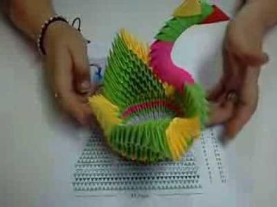 DIY Origami 3D Cisne Papiroflexia (3ra Parte) Easy Crafts