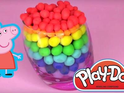 Peppa Pig Play Doh Huevos Kinder Sorpresa en español Juguetes de Peppa Pig