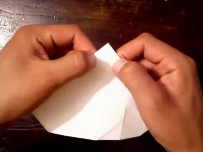 Rosa de origami (papiroflexia)