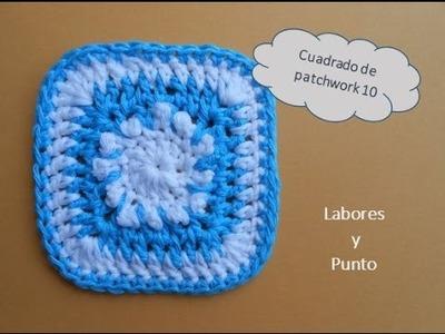 Aprende a tejer este cuadrado de patchwork 11 a ganchillo o crochet