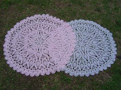 Como tejer mantel a crochet paso a paso parte 4.6