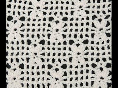 Crochet: Punto Enrejado # 4