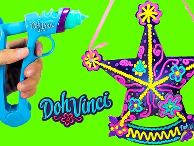 DOH VINCI Play Doh! How to MAke a Coloured Star with us! Como hacer una Estrella de colores!