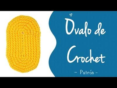 ÓVALO DE CROCHET (patrón) [medios puntos y varetas] | Patrones Valhalla