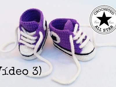 Patucos bebé All Star a crochet (Parte III)