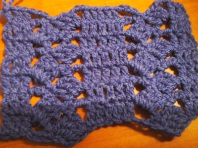 Puntada a crochet, fácil, sencilla y linda. Muestra No. 12