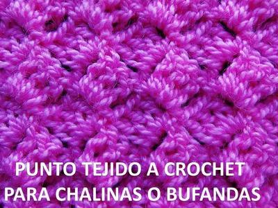 Punto tejido a ganchillo # 7 para chalinas o bufandas