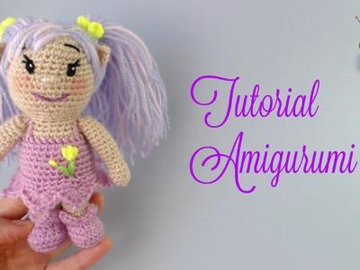 Tutorial amigurumi muñeca duende