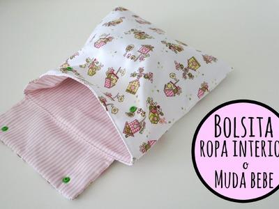 Tutorial DIY para hacer una bolsa para la ropa interior o la muda de bebe I Pinafili films