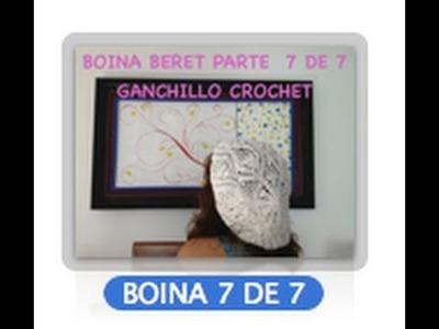 7 DE 7 COMO TEJER GORRO BOINA DISEÑO PIÑAS GANCHILLO CROCHET, DIY TUTORIAL