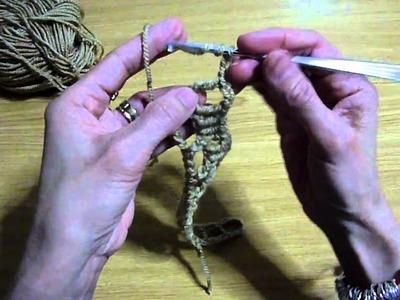 Añadiendo aumentos en crochet.