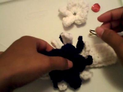 Cintillo con flor  (4ta parte) -Tutorial de tejido crochet