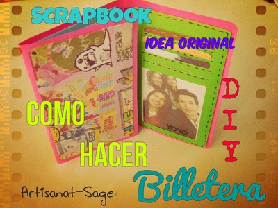 Como hacer billetera. Manualidad.DIY. Scrapbook.WALLET. Regalo