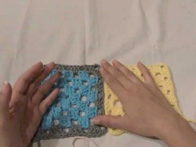 Como unir Granny Square (parte 1.2) | Básicos del Crochet #02