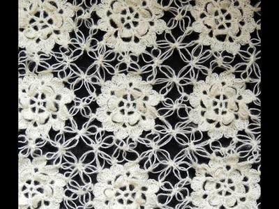 Crochet : Motivo Flor y uniones en Punto Salomón