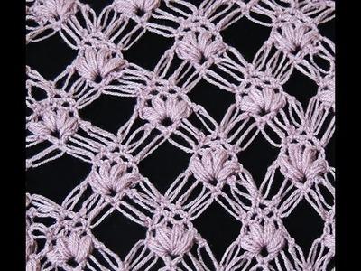 Crochet : Punto Esponjoso y Salomon Recto.  Parte 2 de 2