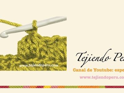 Crochet: punto piña de varetas o puntos altos