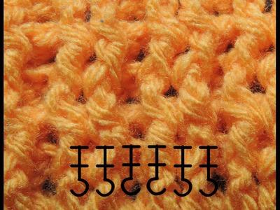 Curso Basico de Crochet : Punto Elastico Doble
