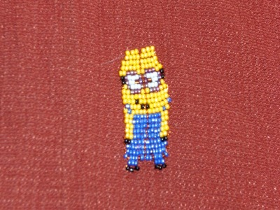 DIY Tutorial de Minion de chaquiras. mostacillas