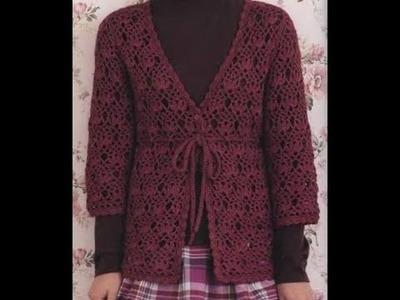 Gráficos para tejer saco puntada calada a crochet