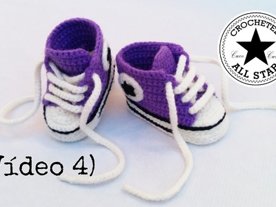 Patucos bebé All Star a crochet (Parte IV)