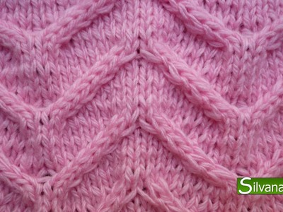 PUNTO MARIPOSA. Tejido con dos agujas # 91 Patterns knitting