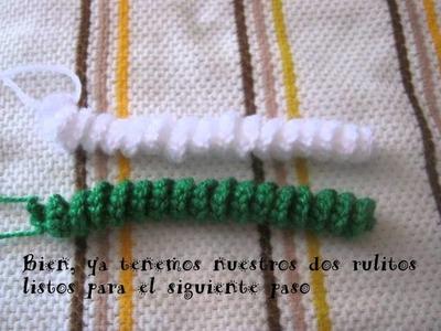 Tutorial bastoncitos navideños en crochet