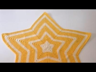 Tutorial Manta Estrella a Crochet Ganchillo Fácil
