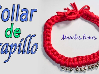 Collar de trapillo y cuentas | Tutorial DIY Crochet XXL