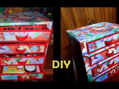 DIY cajonero para maquillaje( recycling drawer Makeup  )