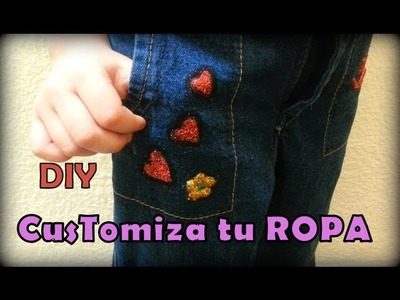 DIY customiza la ROPA de tu hija  Personalize your pants