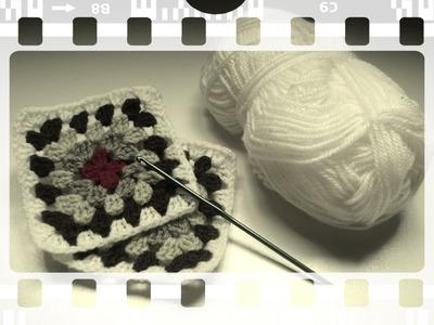 Granny Square: como unir los cuadros tejiendo (diestro)