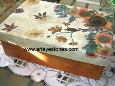 HOW TO DECOUPAGE, PAINTING, CRAFTS DECOUPAGE, MULTICARGA Y MANUALIDADES.wmv