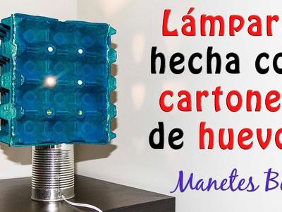 Lámpara hecha con cartones de Huevos | Tutorial DIY