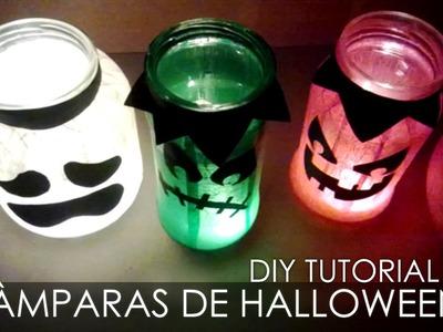 Manualidades con reciclaje - Lámparas de Halloween - Tutorial DIY