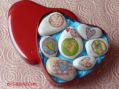 Manualidades para San Valentin, Cómo Decorar Piedras, Valentine's Ideas, Stone Crafts,