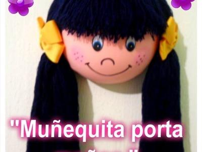 """""""MUÑECA PORTA MOÑOS"""" MANUALIDAD. """"BOWS DOLL CARRIER"""" CRAFT"""